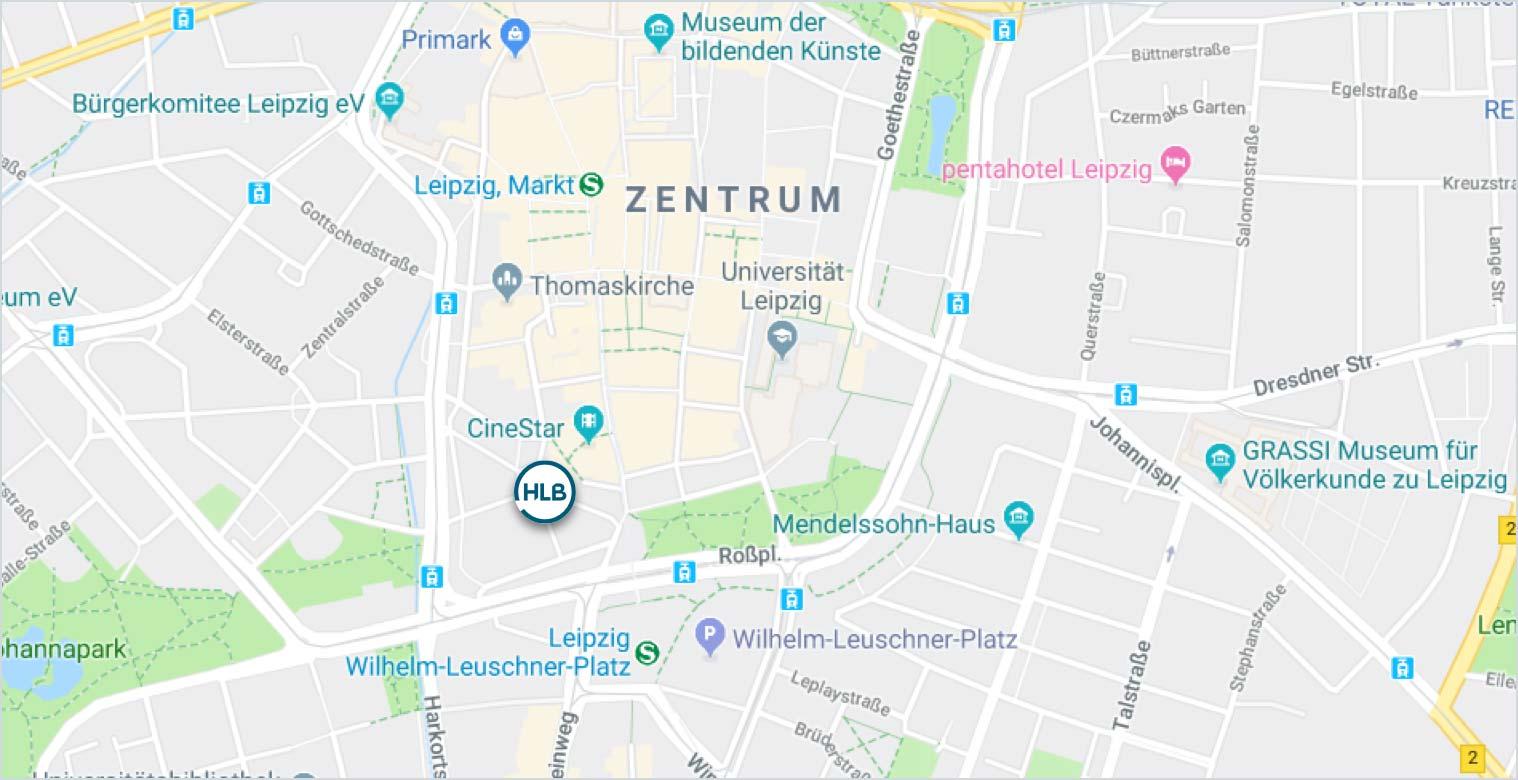Anfahrt HLB Schumacher Leipzig Wirtschaftsprüfer