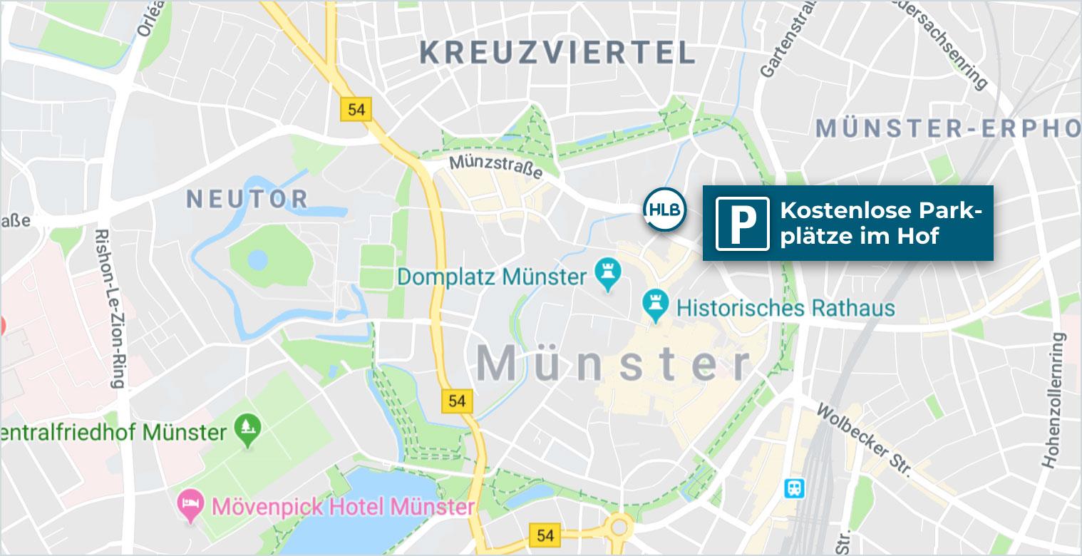 Anfahrt HLB Schumacher Münster Wirtschaftsprüfer